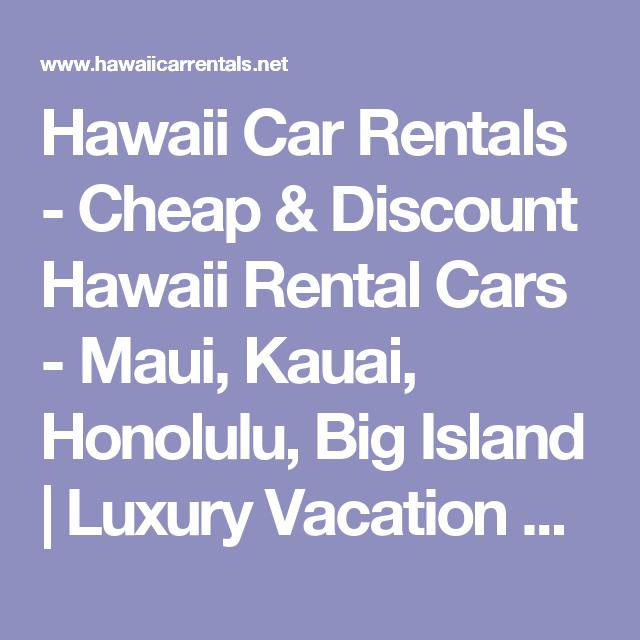 Hawaii Car Rentals Cheap Discount Hawaii Rental Cars Maui - Discount hawaii