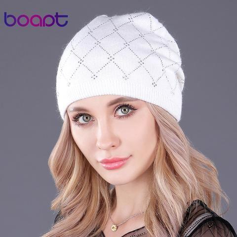 4fd0996450ae0  boapt  double-deck wool knitted rhinestones beanie caps for women s hat  girl warm winter hats casual female skullies beanies