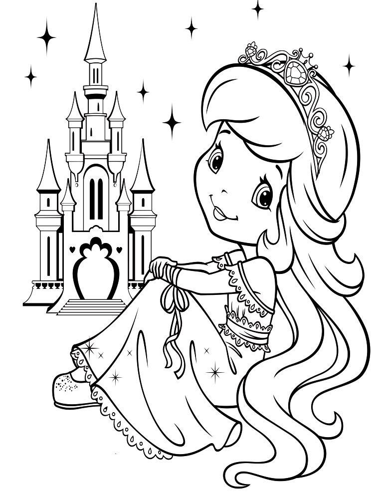 Раскраски для девочек картинки принцессы
