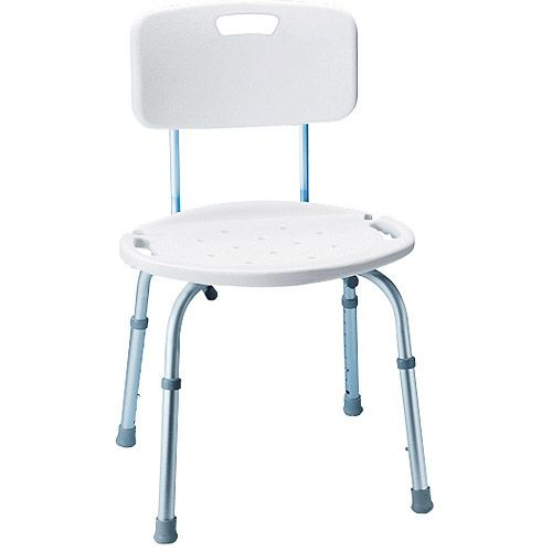 Carex Adjustable Bath And Shower Seat With Back 00023601026514
