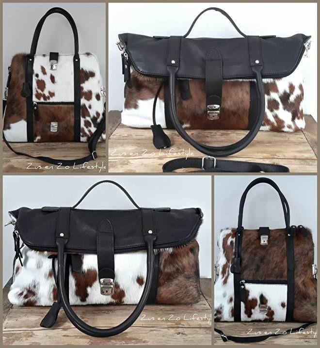 Tassen Koeienhuid : De tassen portemonnees en andere accessoires zijn gemaakt