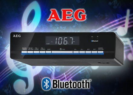 LCD kijelzős AEG bluetooth falra szerelhető konyhai rádió, ébresztő és időzítő funkcióval
