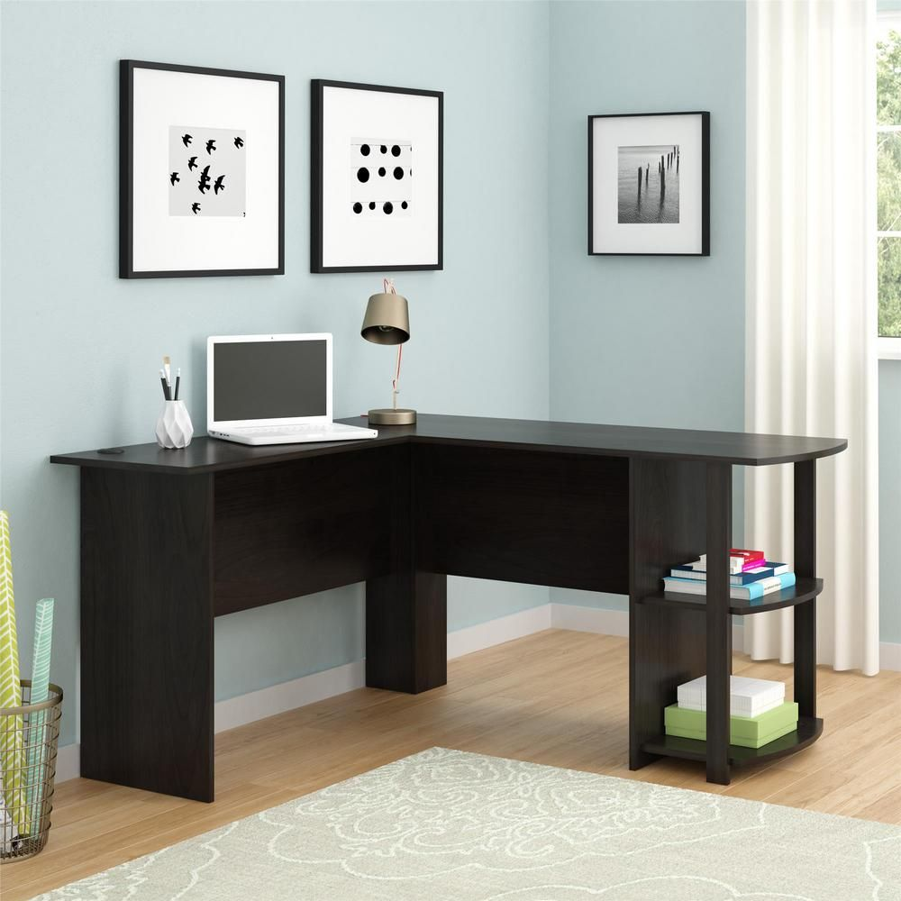 Ameriwood Home Quincy Espresso L Shaped Desk Brown L Shaped