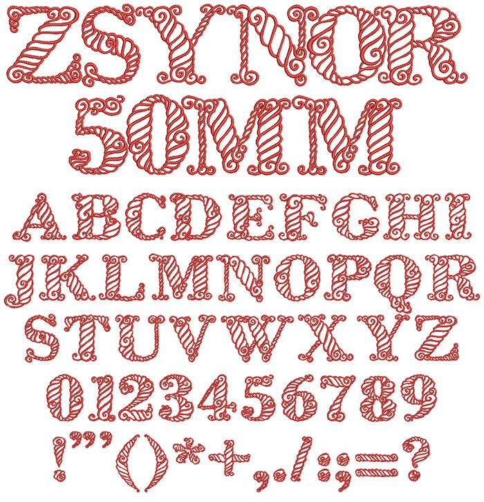 Zsynor 50mm Font Embroidery fonts, Lettering, Creative