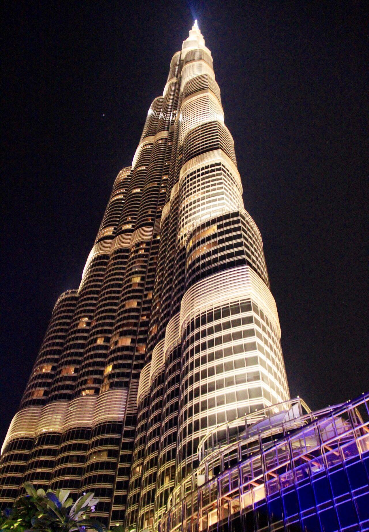 A beautiful bottom up view of Burj Khalifa Dubai