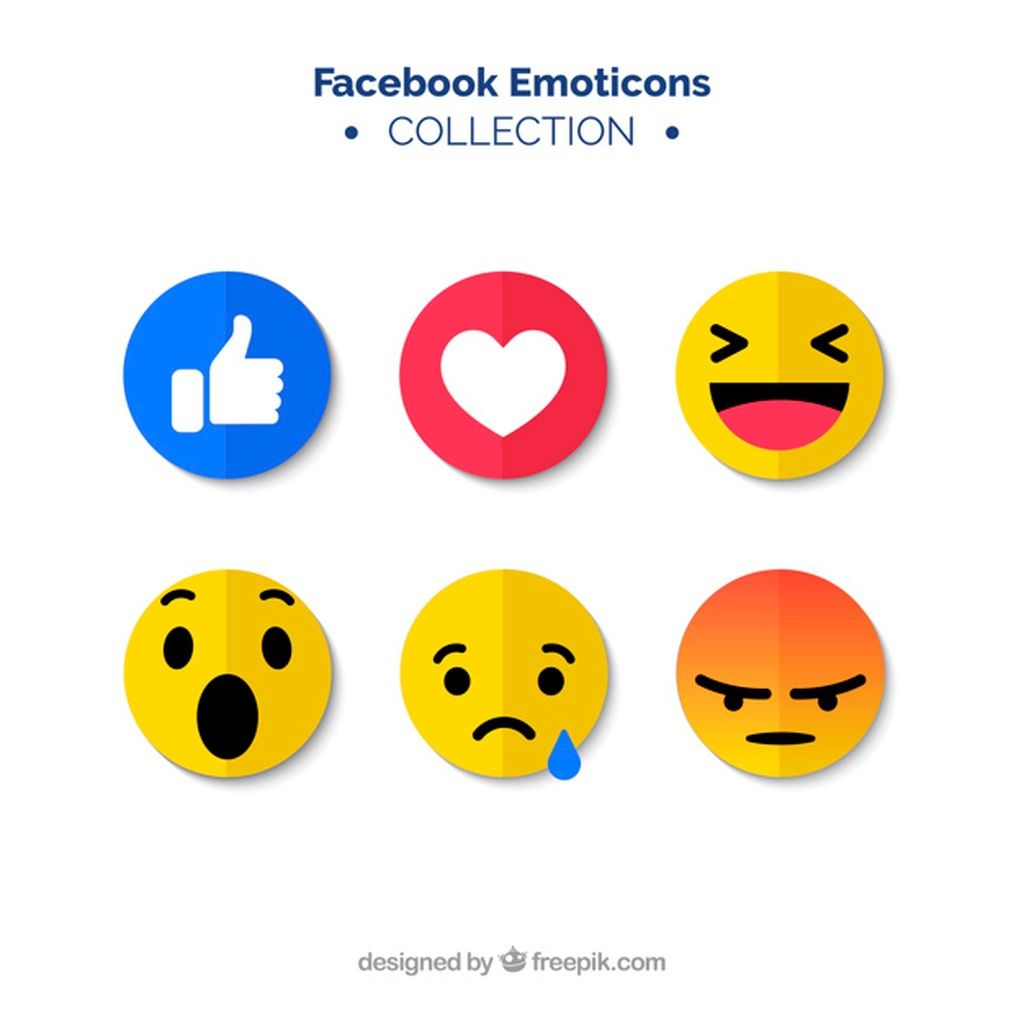 Set Of Facebook Emoticons In Flat Style Paid Ad