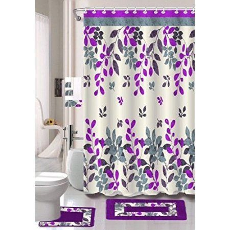 Home With Images Fabric Shower Curtains Shower Curtain Sets Bathroom Accessories Sets