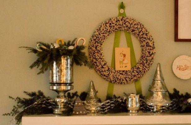 2013 christmas decorating ideas for fireplace: Fireplace Mantel Christmas Decorations ~ ideashomeconcept.com Christmas Inspiration