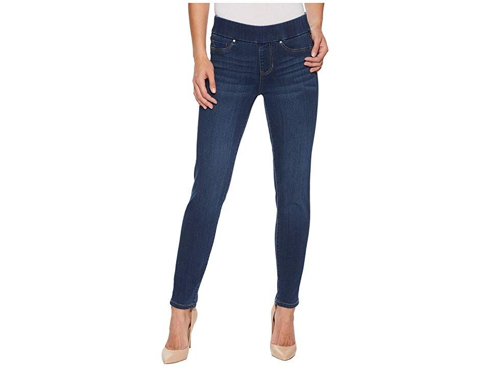 Liverpool Meredith Ankle Slim PullOn in Silky Soft Denim in Elysian Dark Elysian Dark Womens Jeans Keep your look classy in these stylish Liverpool jeans Midrise jeans bo...