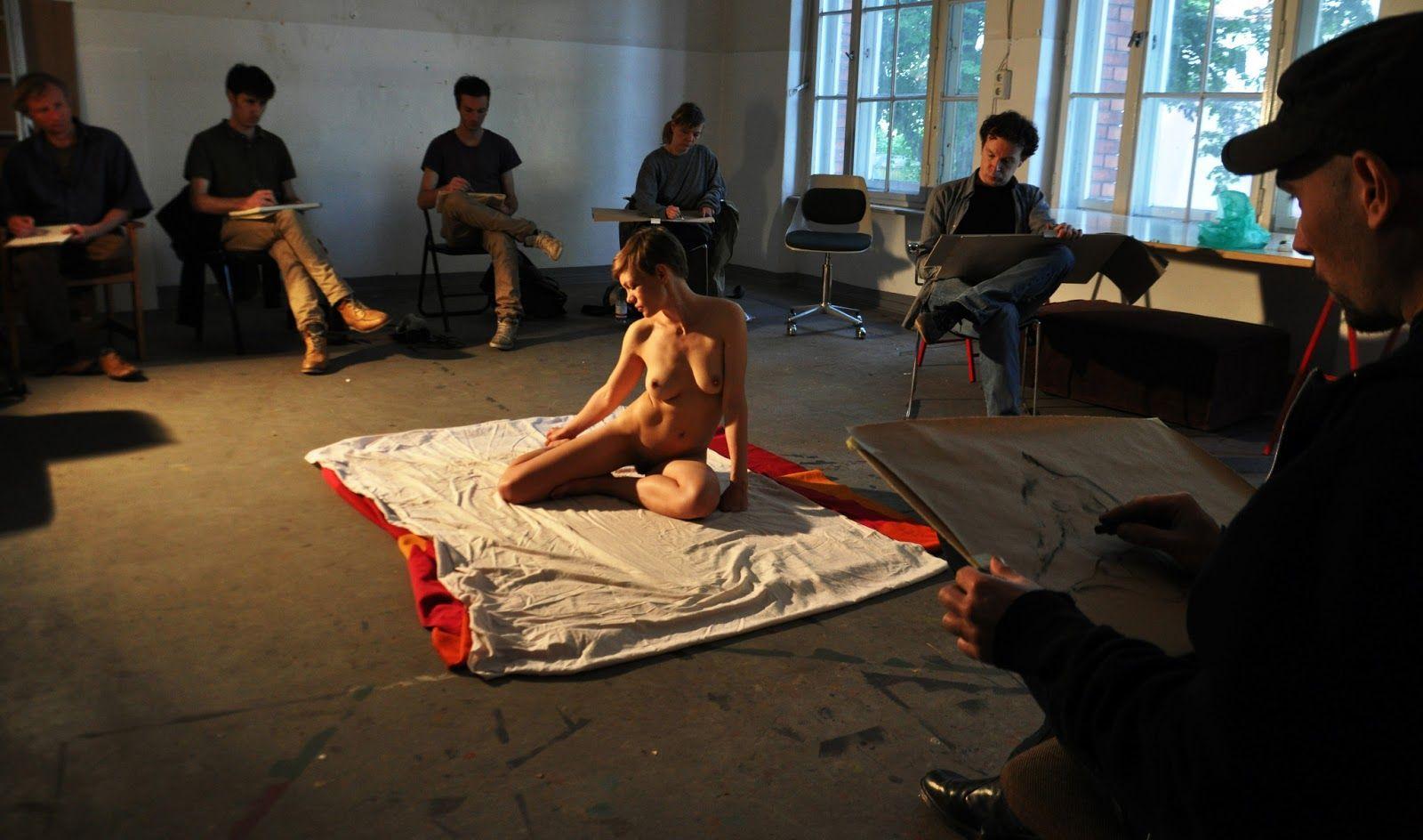 Rachael c nude art class wank it now