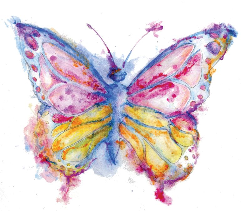 Easy Watercolor Paintings Of Butterflies watercolor butterfly -...
