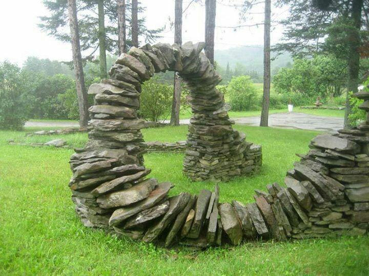 Amazing Free Standing Stone Art