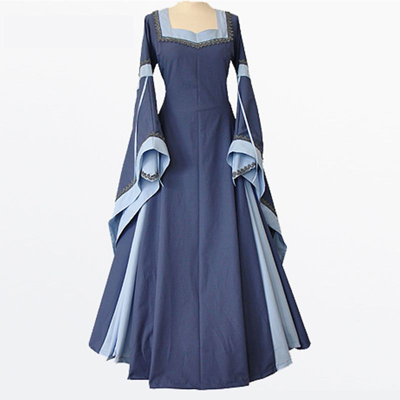 Gothic Victorian Blue Medieval Dress 136441 | clothing | Pinterest ...