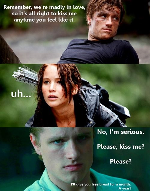 Gale sees peeta and katniss kiss
