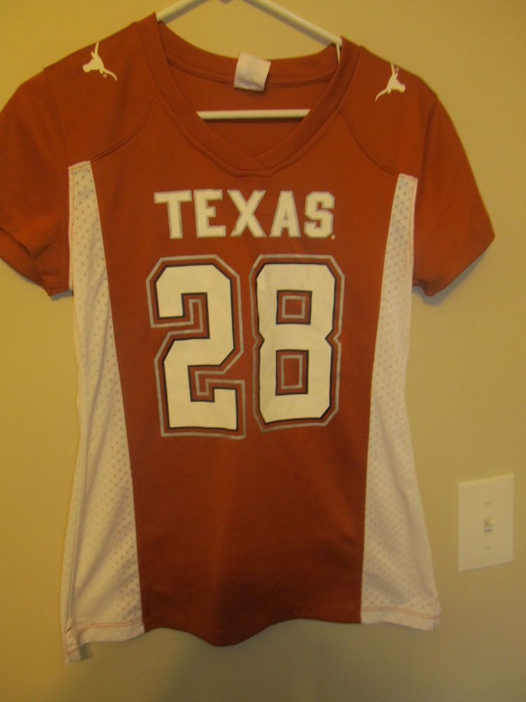premium selection 2ce38 66539 Details about TEXAS LONGHORNS FOOTBALL JERSEY WOMENS SMALL 4 ...