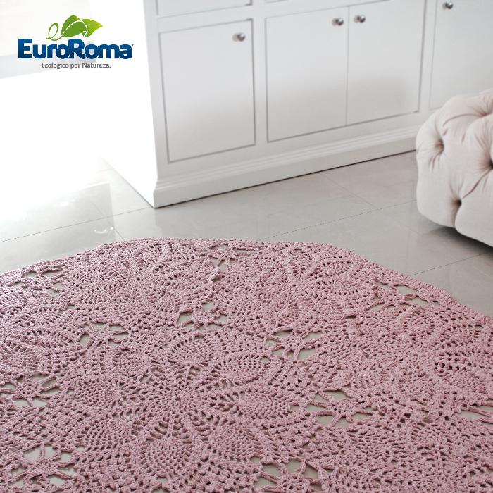 receita-tapete-rose-quartz-euroroma-2 | croche | Pinterest | Teppich ...