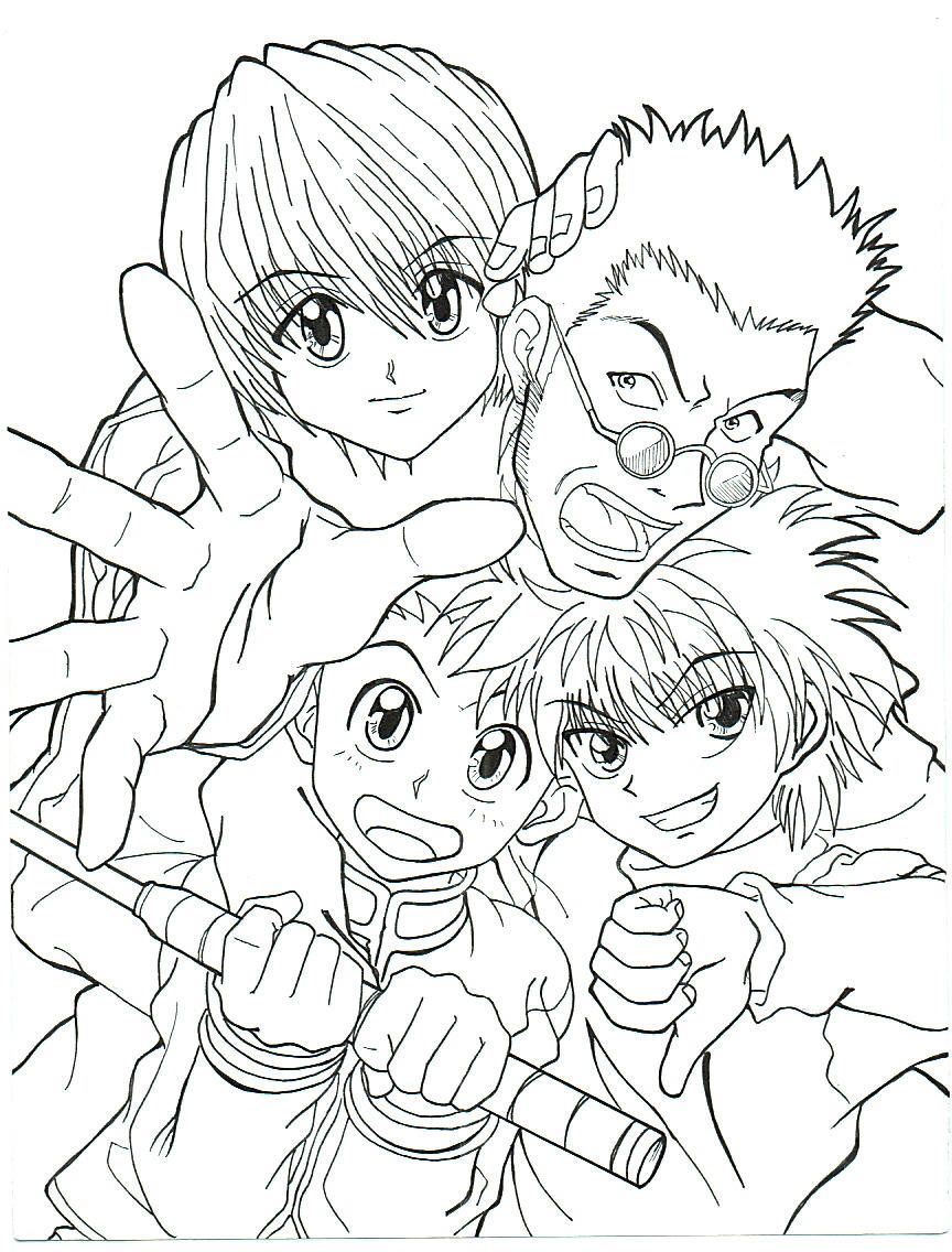 Download Or Print This Amazing Coloring Page Hunter X Hunter Coloring Pages Hunter X Hunter Coloring Pages Color