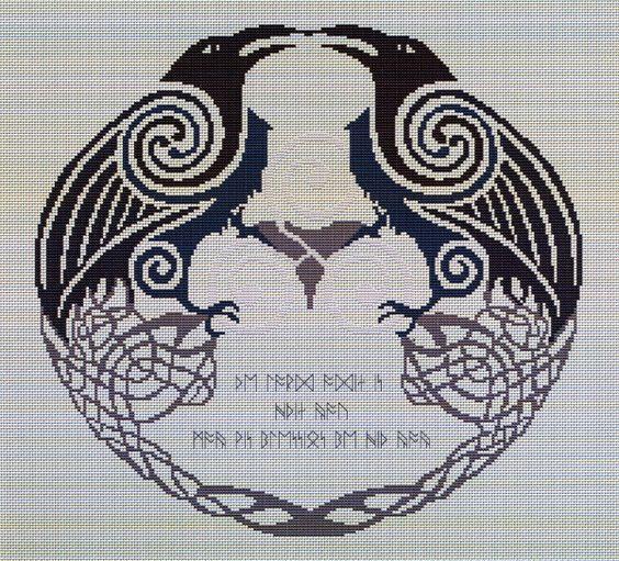 Billedresultat for cross stitch norse mythology motiver