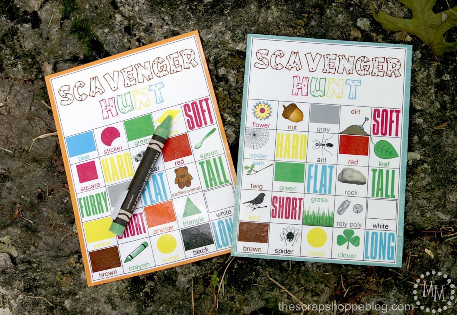 Indoor Camping 101: Here's a fun printable from @Michele Morales {The Scrap Shoppe} that includes both an indoor and outdoor nature scavenger hunt activity!