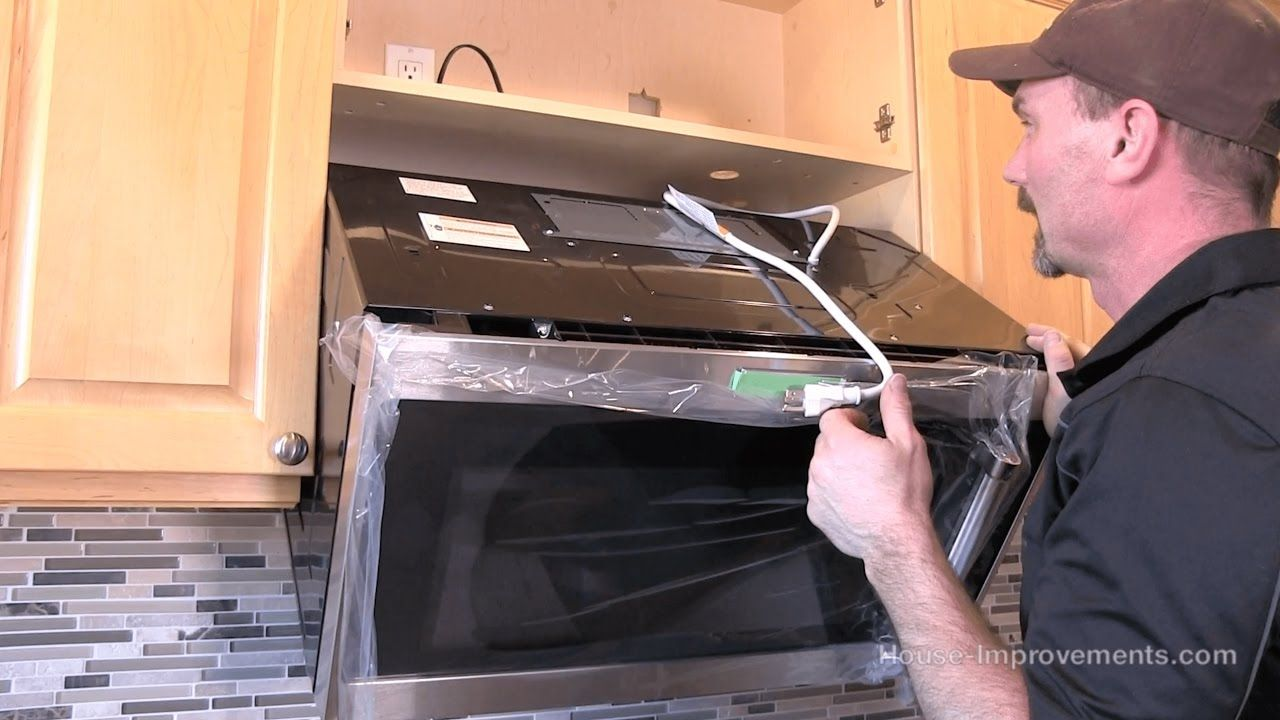 How to install a microwave overtherange style