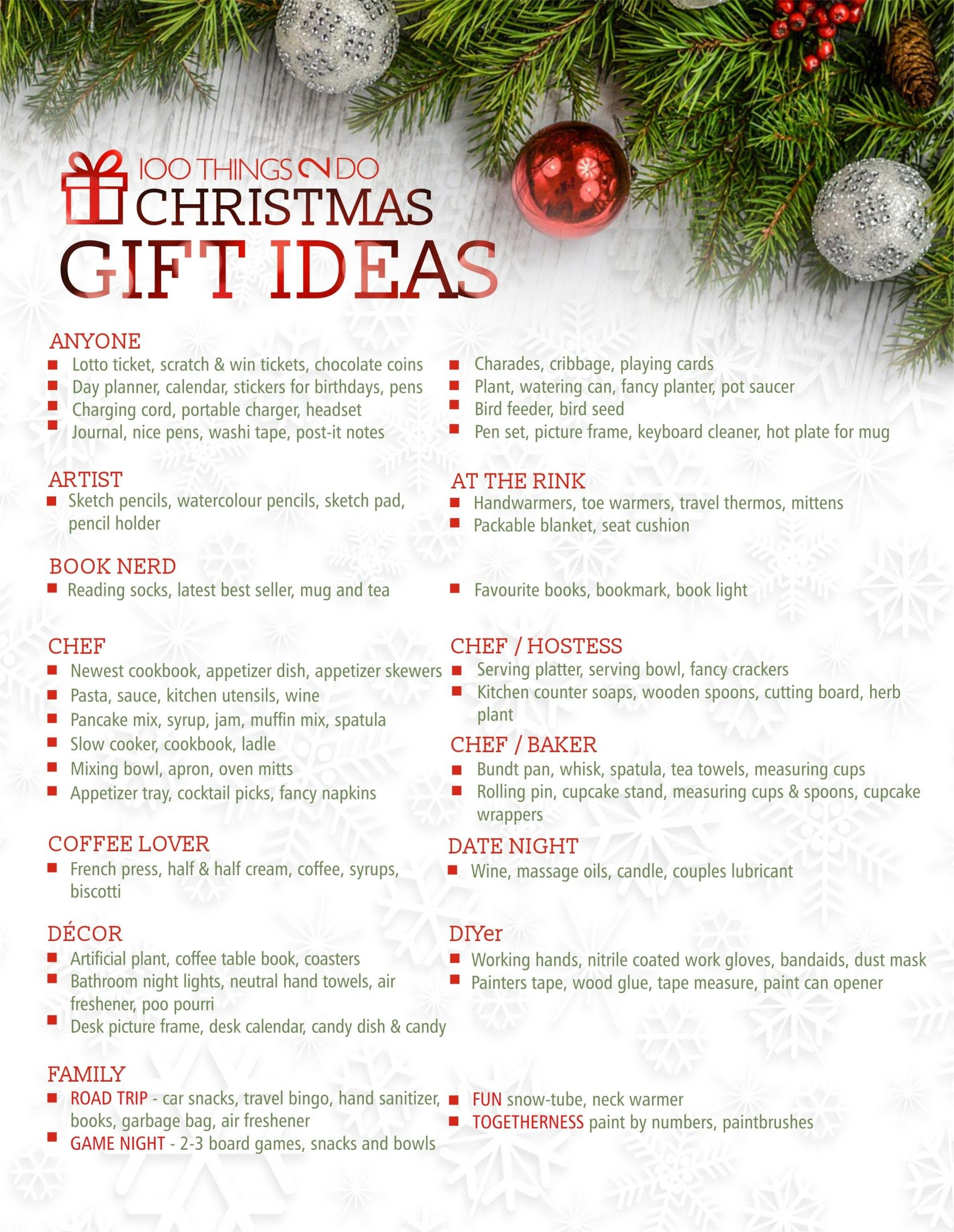 100 Christmas Gift Ideas - for everyone in your life | Christmas ...