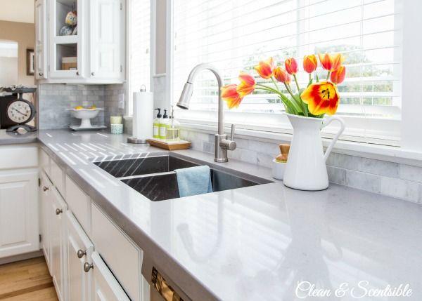 Attirant Hometalk :: White Kitchen Reveal ~ Quartz Countertop