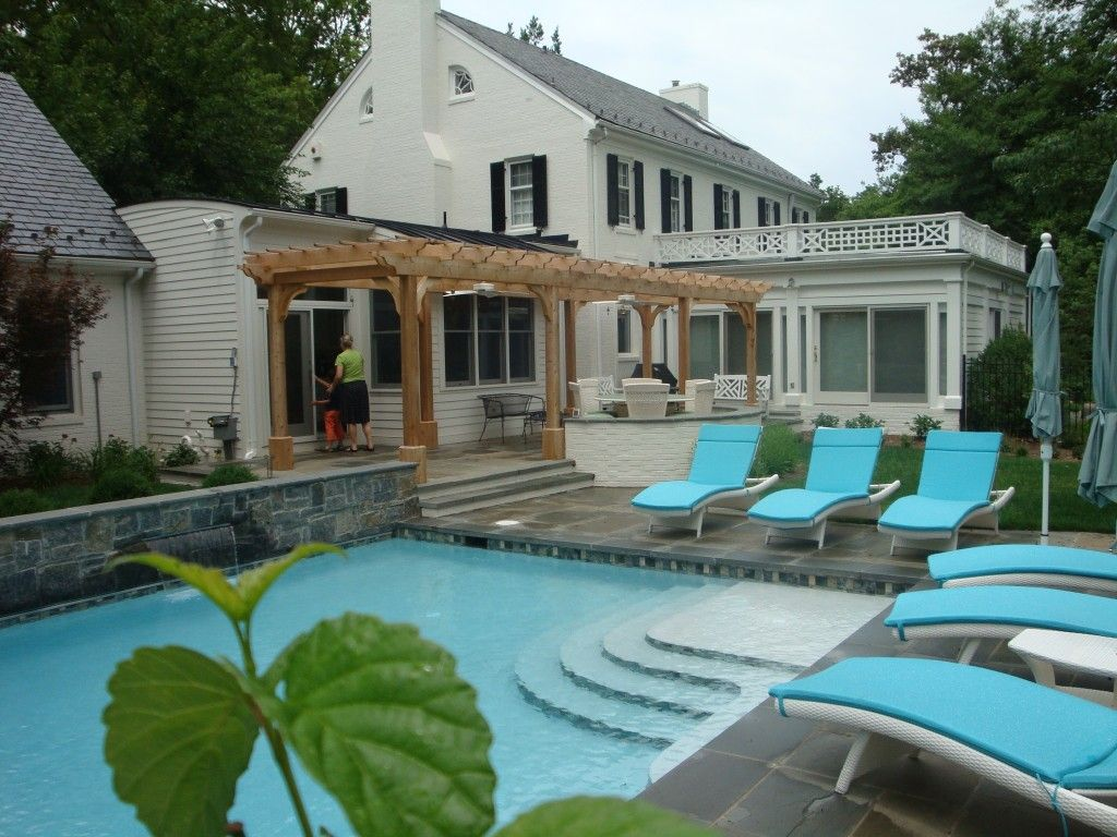 Fredericksburg pool, patios, pergola, and plantings. | Revolutionary ...