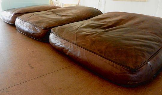 Verfuhrerische Leder Sofa Kissen Fix Unten Abgeflacht Leder Sofa