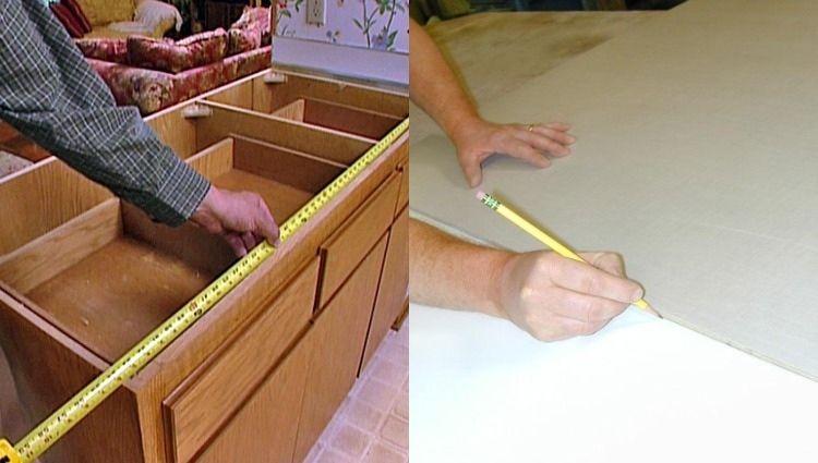 Arbeitsplatte aus Beton bestimmen und ausmessen genial - k che aus beton selbst bauen