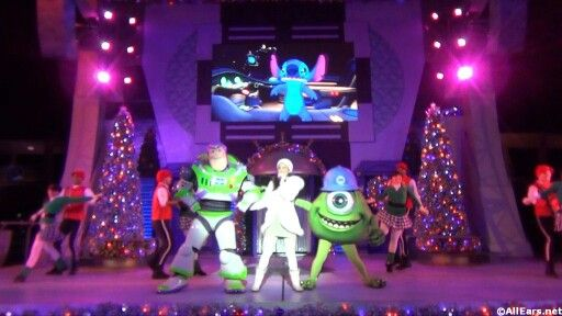 Totally Tomorrowland Christmas Show. More pictures from Mickey's Very Merry Christmas Party, right this way... http://allears.net/tp/totally-tomorrowland-christmas.htm| #MVMCP # Christmas #Christmastime #DisneyHoliday #WDW #DisneyWorld #MagicKingdom