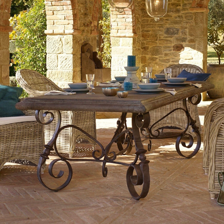 Tisch Mit Antik Patina Kunstvoll In Handarbeit Geschmiedet