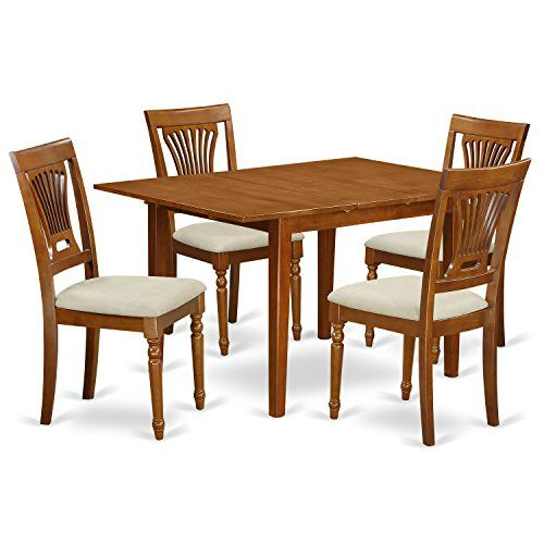 East West Furniture Mlpl5sbrc 5piece Kitchen Table Set Want Additional Info Click On Small Kitchen Tables Small Kitchen Table Sets Dining Table In Kitchen