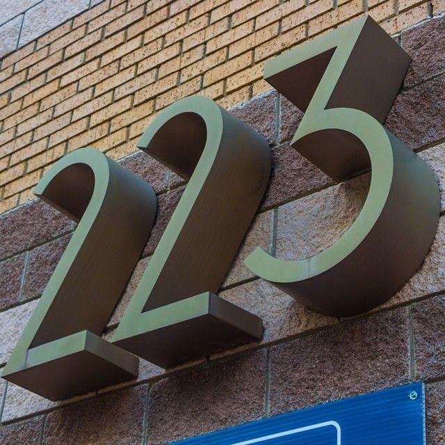 #223 #numbers #type #sign #extrudedtype