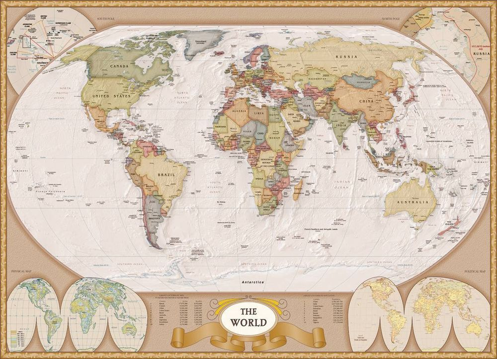 eurographics map of the world jigsaw puzzle 1000 pc 1272
