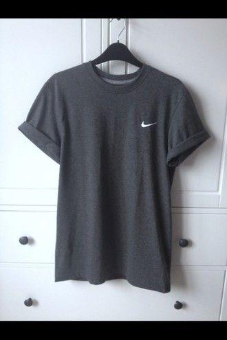 Top Clothes Grey Adidas Oversized Black Shirt T Nike vafqt1