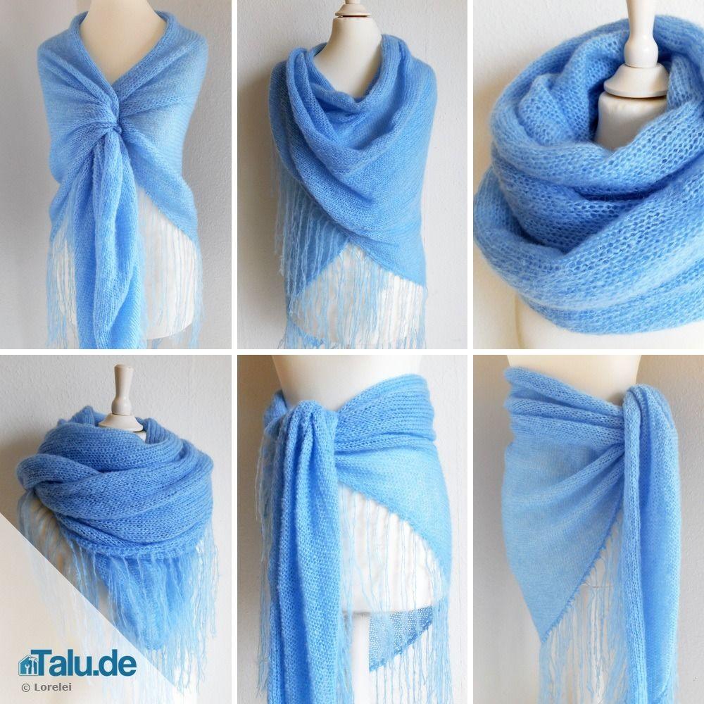 Photo of Knit triangular scarf – free DIY instructions – Talu.de