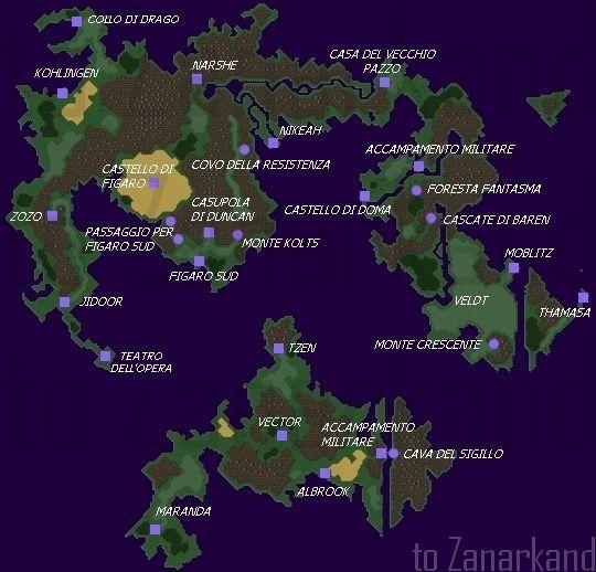 Final Fantasy Vi Map fantasy vi world map 540 X 518 pixels | bobeira ...
