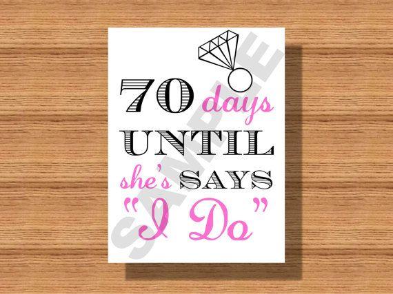 Bridalshower Countdown Till Wedding Sign Days Until She Says Ido By Weddingsbyjamie
