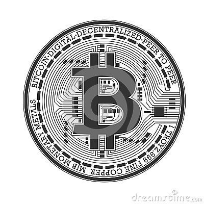 Bitcoin. Vector logotype of most popular cryptocurrency in ...