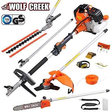 Wolf Creek Multi Tool 58cc 2 Stroke Petrol 5 In1 Long Reach Hedge Trimmer Strimmer Pruner Chainsaw Brush Cutter Exten Garden Hedges Pruners Hedge Trimmers