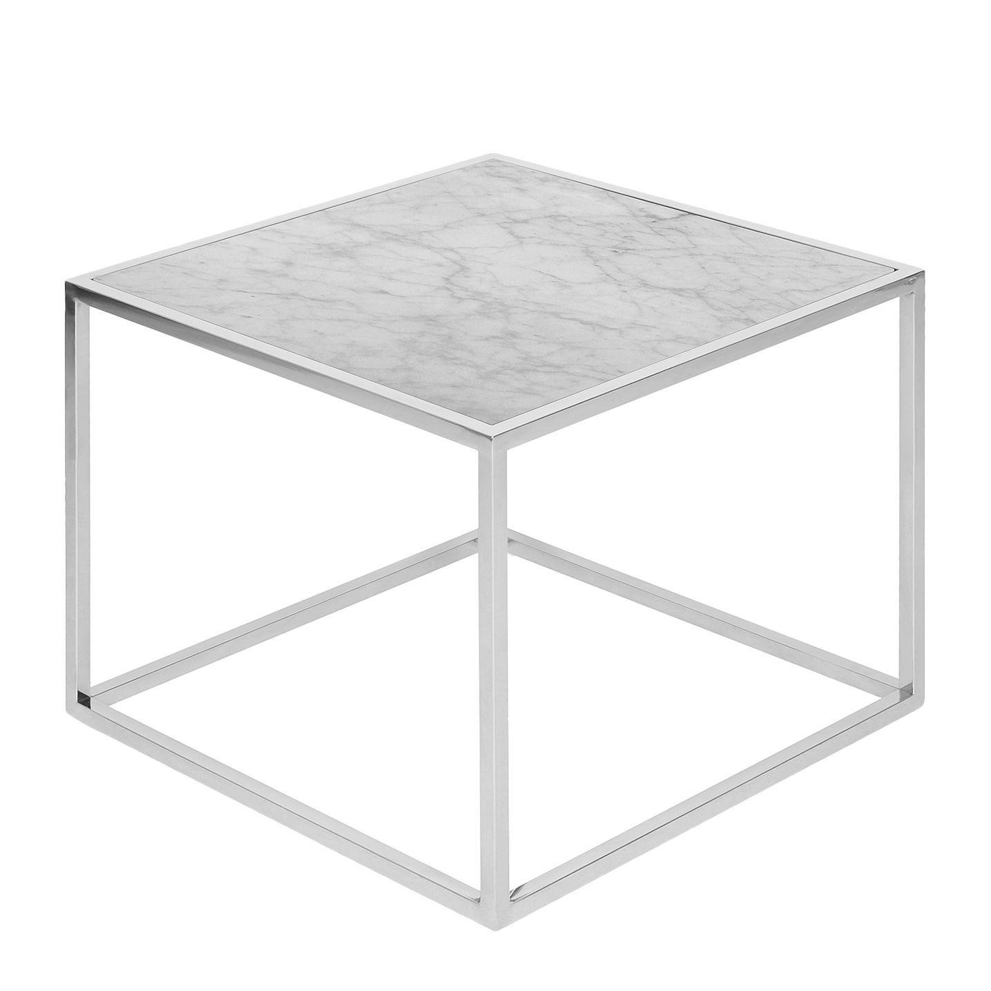 Beistelltisch Jacob - Marmor / Edelstahl - Weiß / Silber Jetzt ...