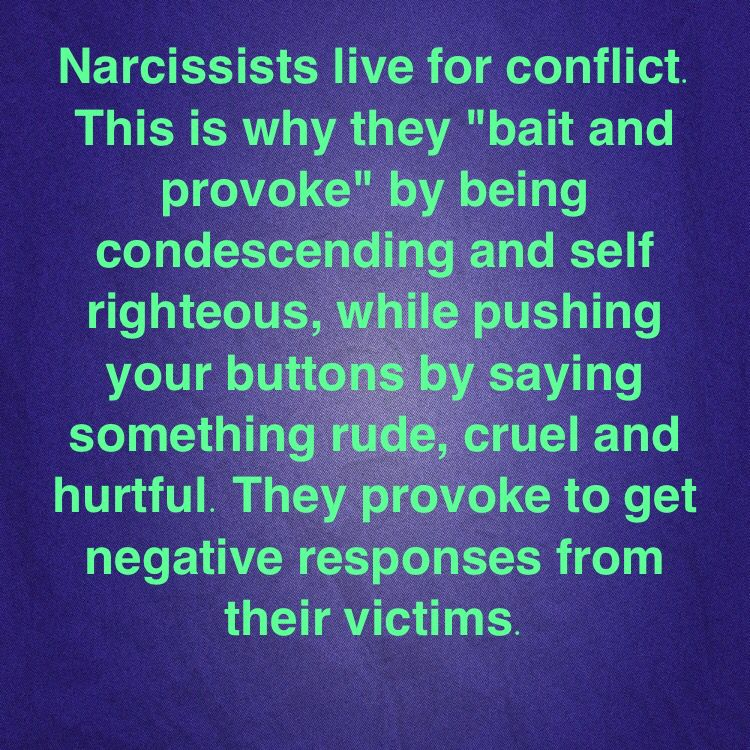 Narcissist baiting
