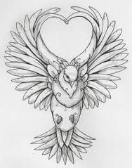 image result for a drawing of dove flying down
