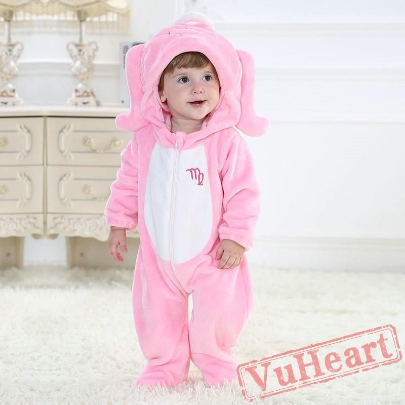 219c3449a4b7 Pink Virgo Zodiac Sign Kigurumi Onesies Pajamas Costumes Toddler ...