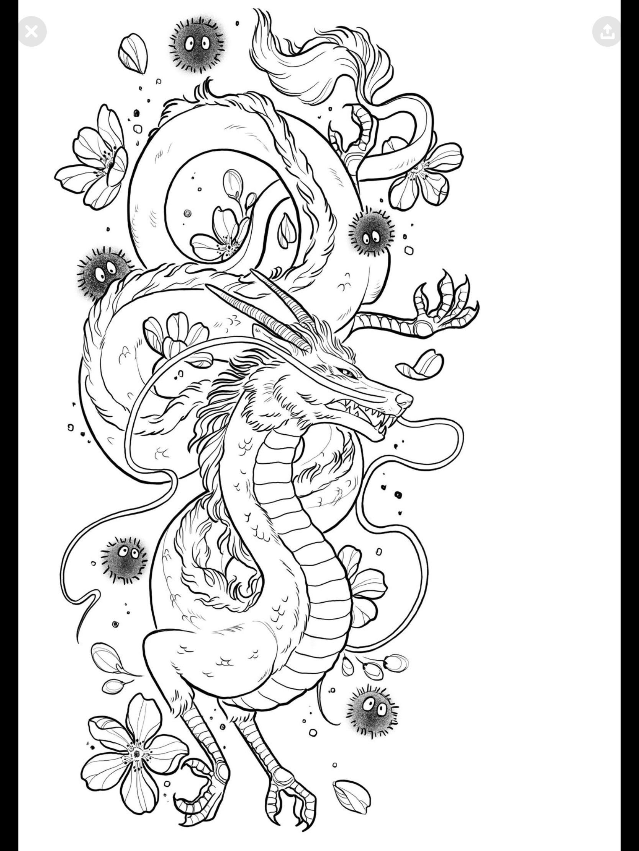 Pin By Bethany Divinecrone Wordpress On Tattoo Love Ghibli Tattoo Dragon Tattoo Studio Ghibli Tattoo