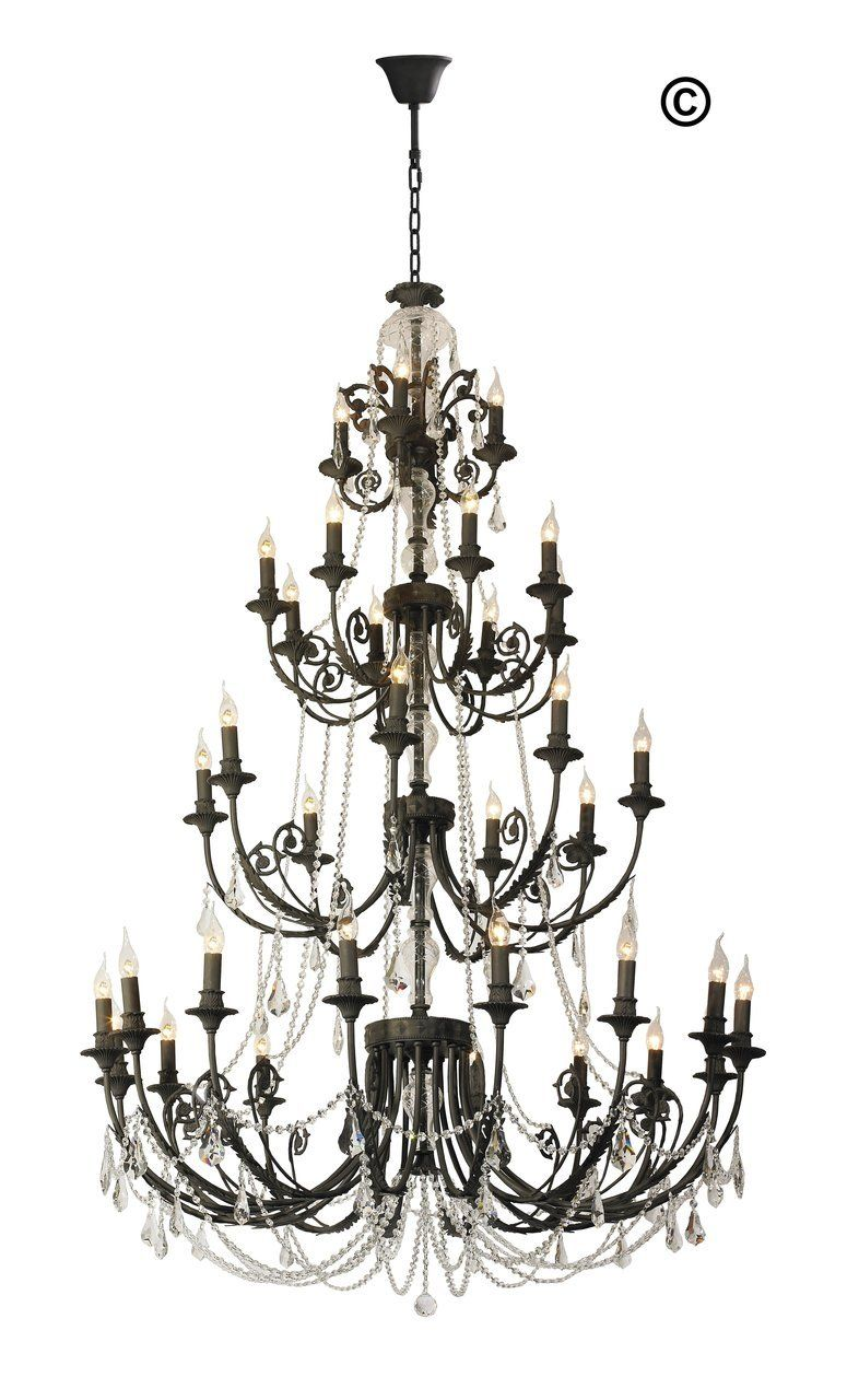 french provincial iron chandelier 36 arm wrought iron finish