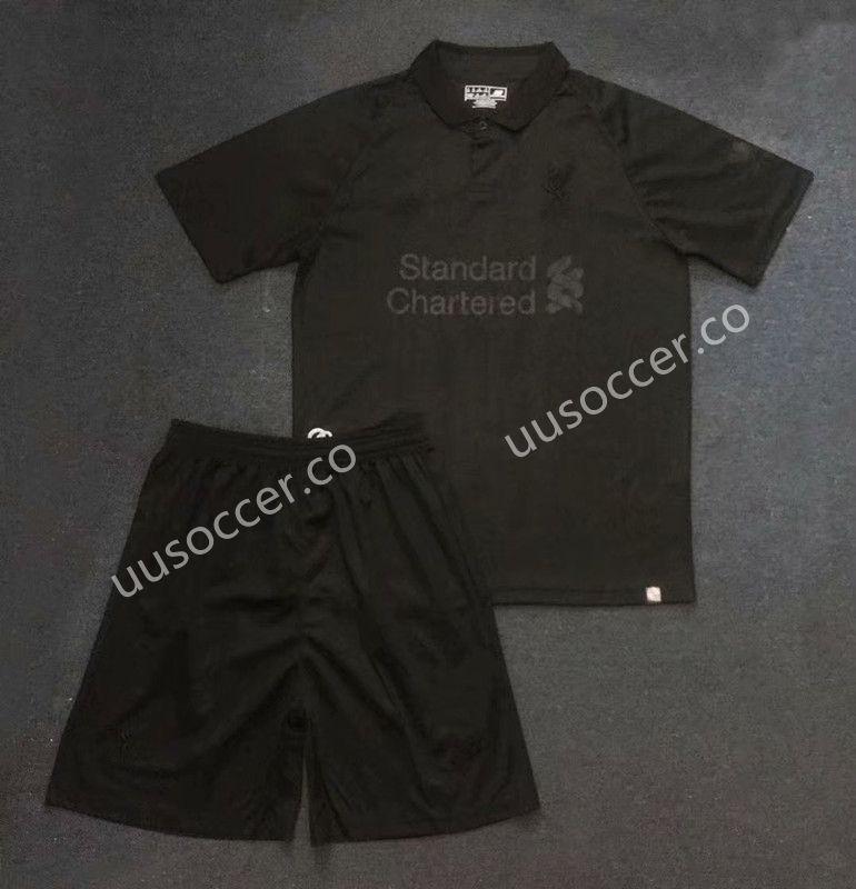 best service 4f475 13a50 Limited Version 2019-2020 Liverpool Black Soccer Uniform ...