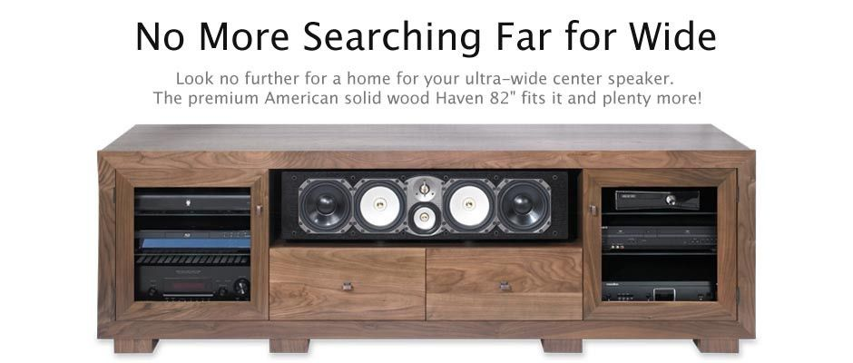 Wide Tv Stand Haven 82 High End Wood Made In Usa Standout