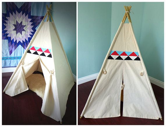 Canvas Teepee Tent poles NOT included cover only with Patchwork/quilt decor & Canvas Teepee Tent poles NOT included cover only with Patchwork ...