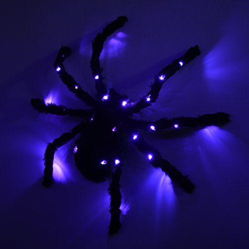Arachnophobes beware this large, black spider Halloween decoration - large halloween decorations